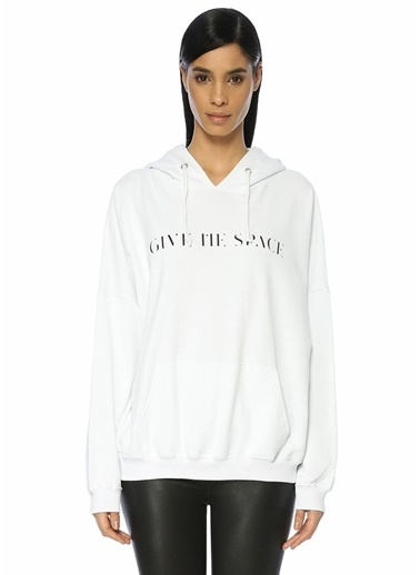 Give Me Space Sweatshirt Beyaz
